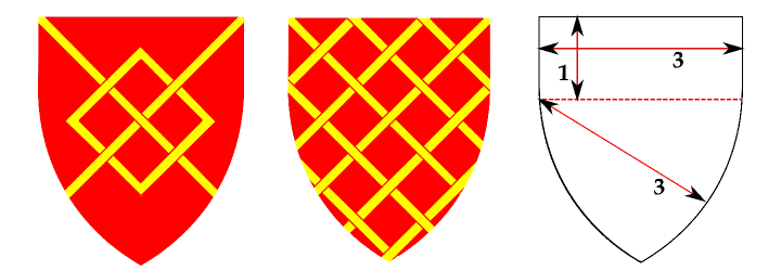 A Fret; A Fretty and a Heater.  See webpages on coats of Arms